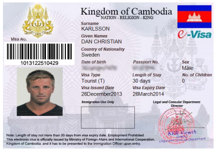 getting visa for cruise in Mekong