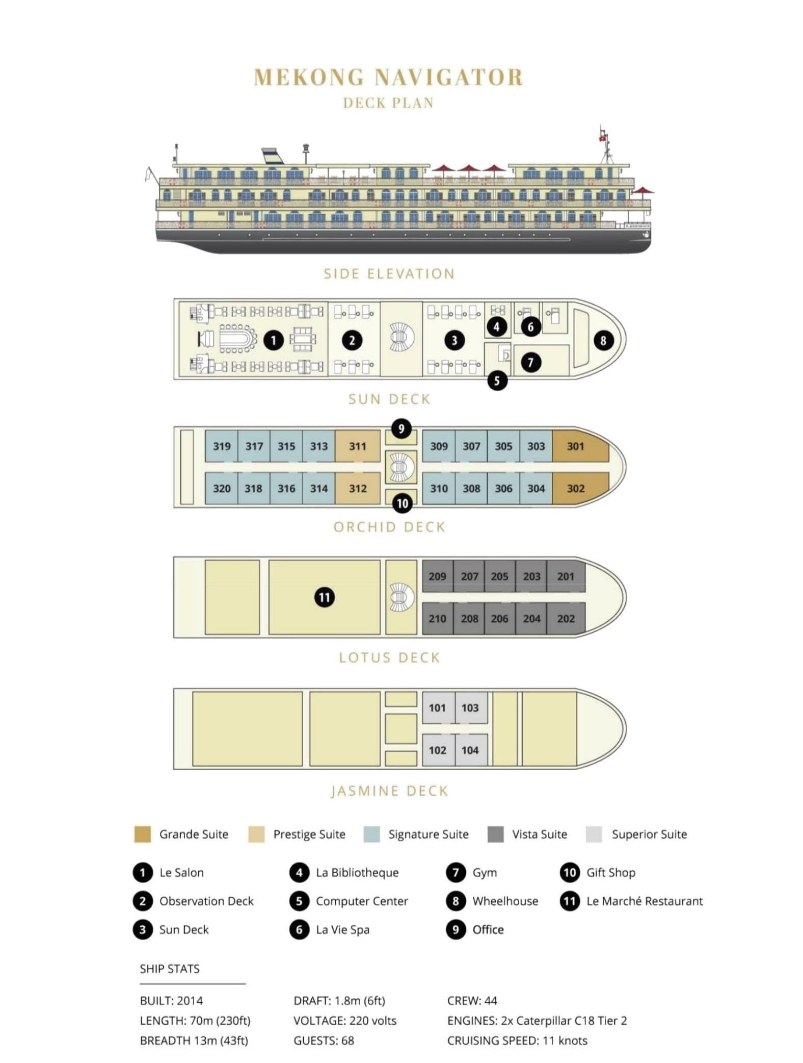 mekong navigator deck plan