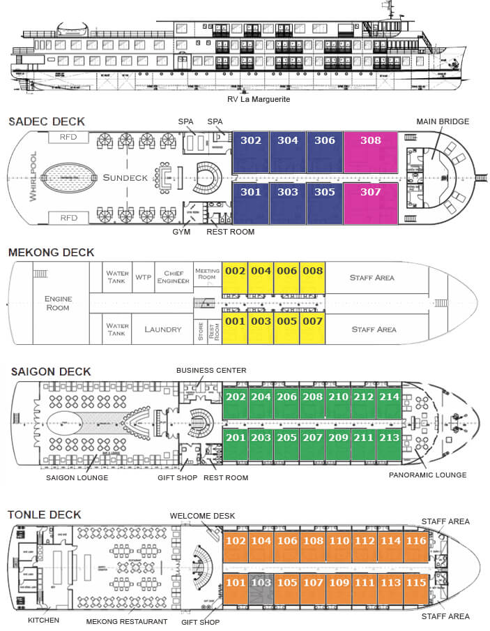 la marguerite cruise deck plan